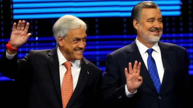 Pinera to face Guillier in December runoff for Chile presidency