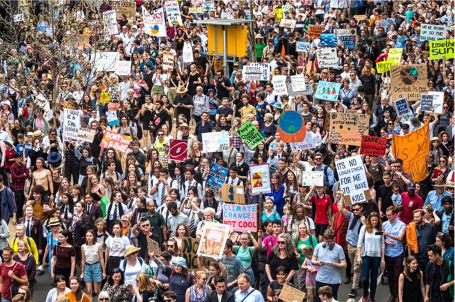 Manifestación en Melbourne