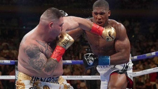 Andy Ruiz contra Anthony Joshua en la pelea