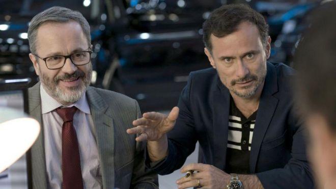 Personagens João Pedro Rangel (esq.) e Roberto Ibrahim (dir.)