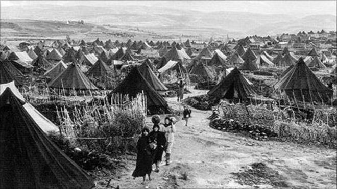 Image result for Arabs fleeing from Israel in 1948