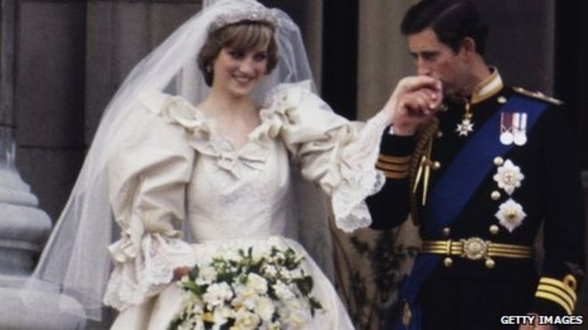 Princess Diana And Prince Charles On Their Wedding Day In