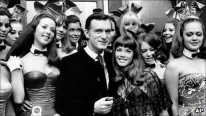 Хью Хефнер, а затем подруга Барбара Бентон в 1969 году