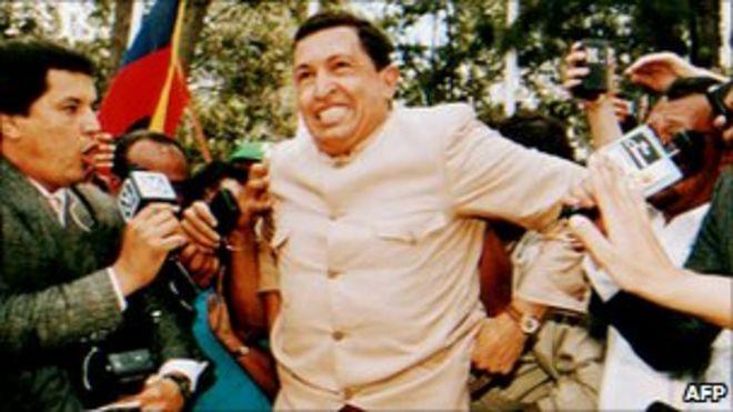 Уго Чавеса встречают толпы