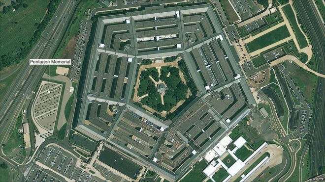 In pictures: Pentagon before and after 9/11 - BBC News