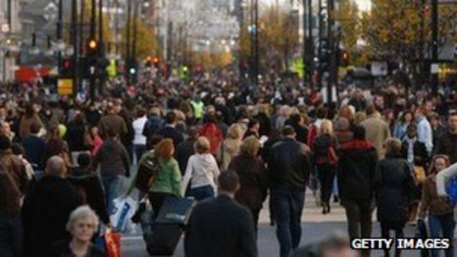 Оживленная улица Великобритании