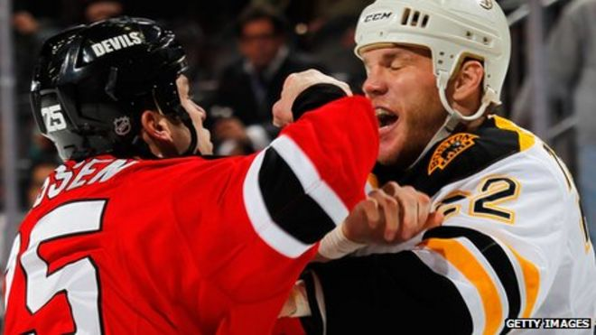 Are ice hockey  enforcers  the toughest guys in sport  - BBC News 5694bfc43021