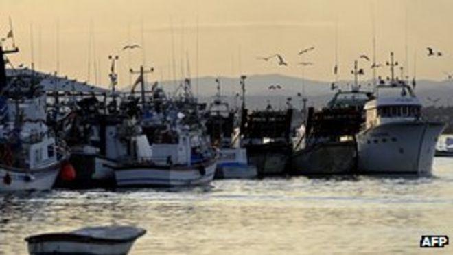 Порт Исла-Кристина, юг Испании - файл фото
