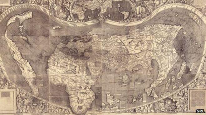 Карта немцев Мартина Вальдсимюллера и Матиаса Рингмана