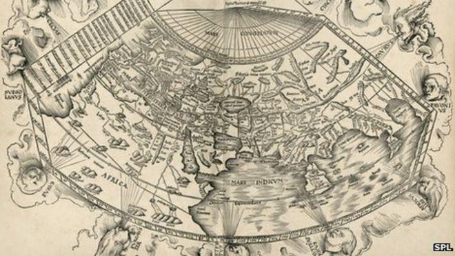 Реконструкция карты Птолемея в 15 веке