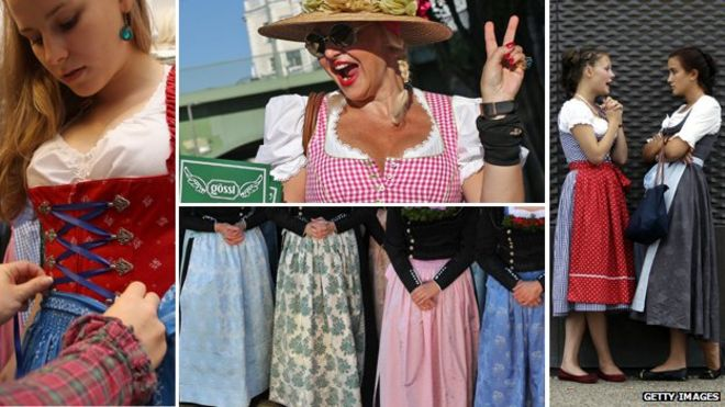926bff782fe Lederhosen and dirndl dresses make a comeback - BBC News