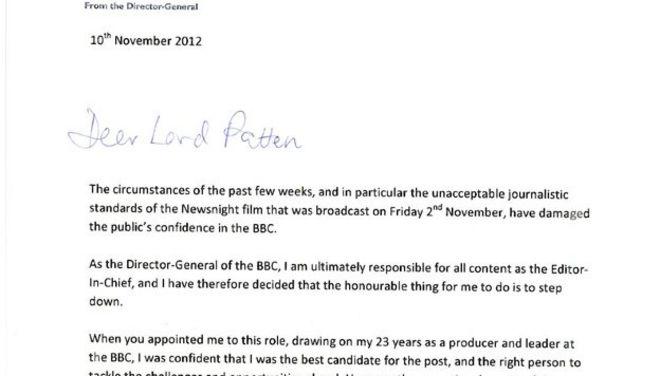 George Entwistles Statement In Full Bbc News