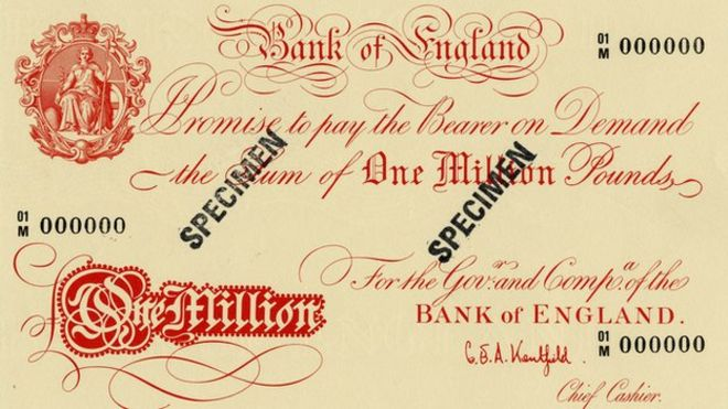 Britains 1m And 100m Banknotes Bbc News