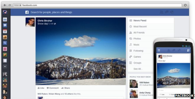 Facebook: Web reaction to the News Feed revamp - BBC News