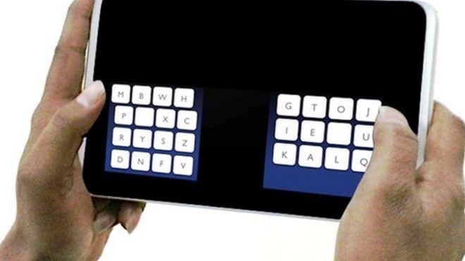 KALQ thumb-type keyboard takes on Qwerty - BBC News