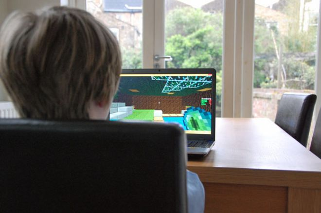 Minecraft Kitchen Table Why minecraft is more than just another video game bbc news boy plays minecraft at kitchen table workwithnaturefo