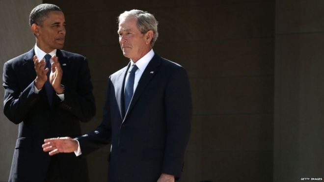 In Pictures Opening Of George W Bush Library Bbc News