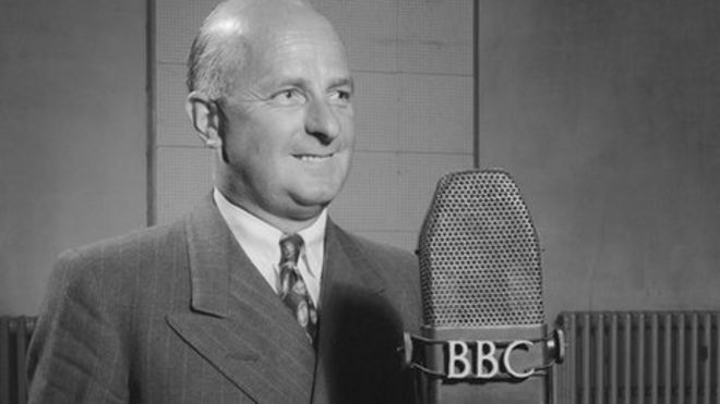 Donald Healey speaking at the BBC.