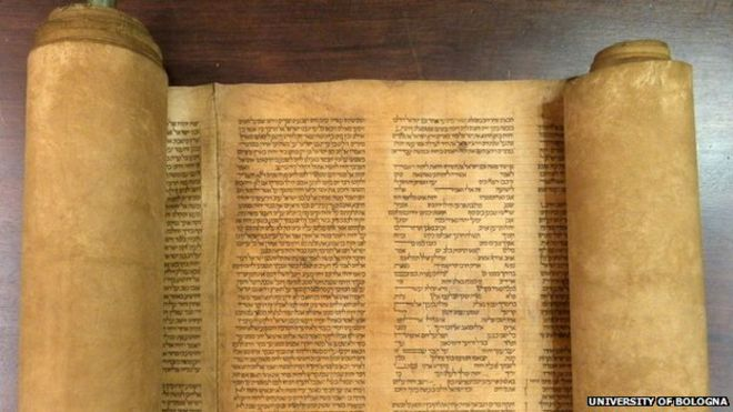 Torah scroll found in University of Bologna library