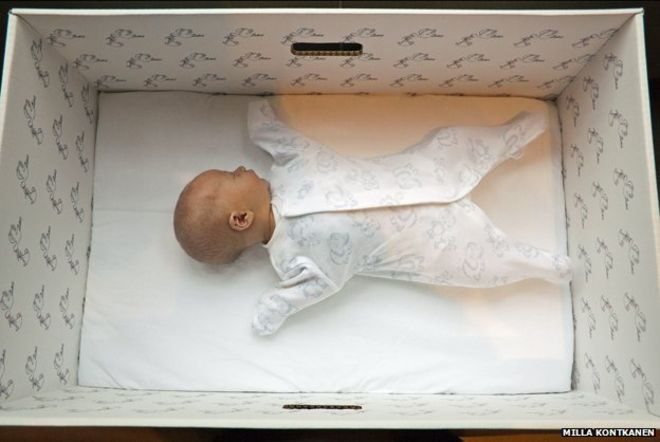 Why Finnish Babies Sleep In Cardboard Boxes Bbc News