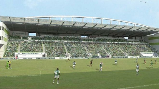 Image Caption The 4800 Seat Grandstand Is Part Of Mr Brents 50m Redevelopment Plans For Home Park In Plymouth