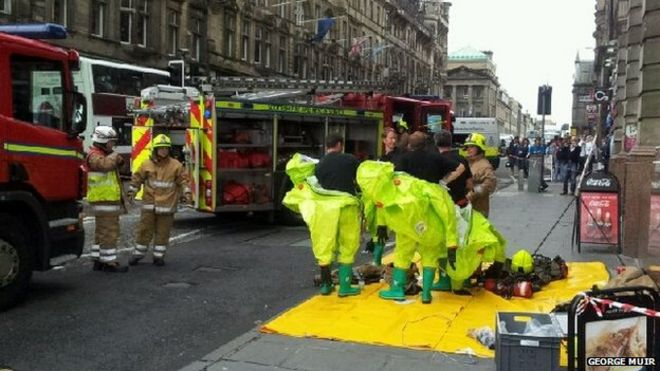 Scotsman Hotel chemical death bodies removed - BBC News