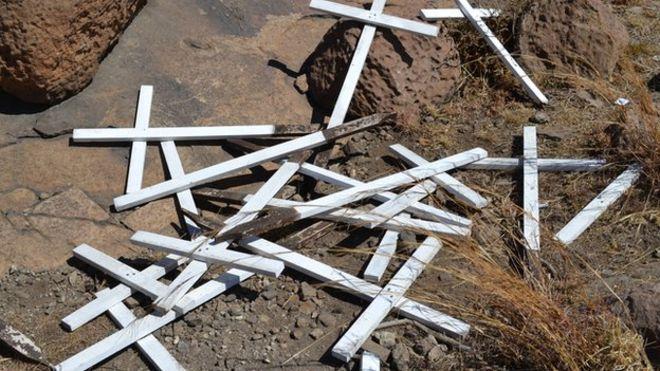 Кресты в Марикане, Северо-Запад