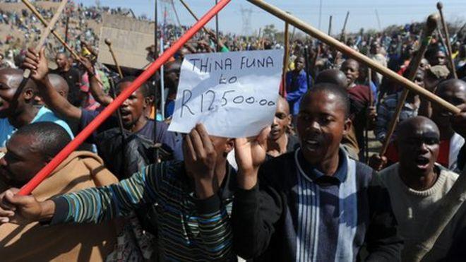 Марикана протестующих