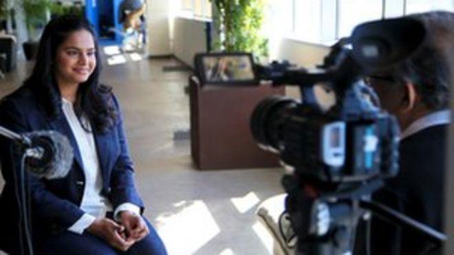 Ручи Сангви дает интервью для серии Digital Indians