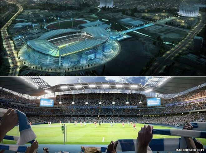 Image result for manchester city new stadium