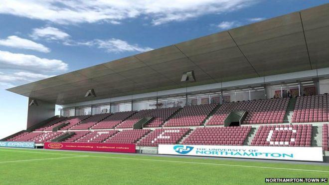 Exhibition Stand Northampton : Work on northampton town football club stadium starts bbc news