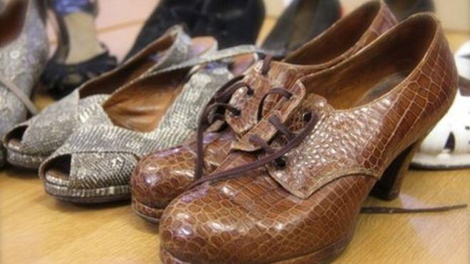 52dac696756 Roger Fearnside s crocodile shoe collection Image caption ...
