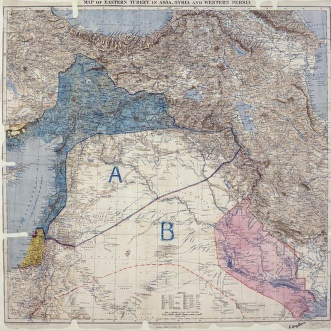 Why Border Lines Drawn With A Ruler In WW Still Rock The Middle - Middle east political map 1900