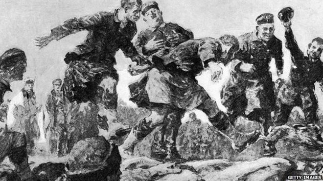 christmas truce in the trenches by gilbert holliday from a description by an - Wwi Christmas Truce