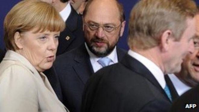 Ангела Меркель и Энда Кенни (справа)