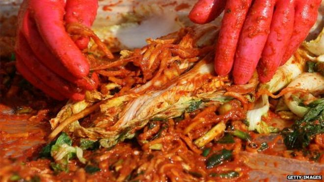 South Korean Women Make Kimchi A Traditional Pungent Vegetable Dish In Seoul South