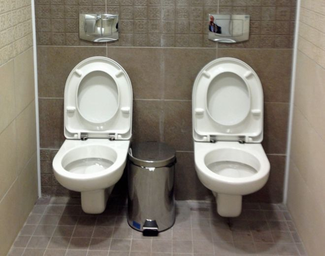 The mysterious case of the double toilet - BBC News