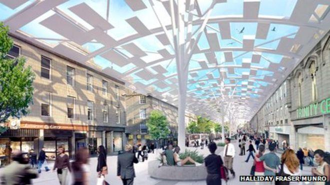 Roof Plan For Aberdeen City Centre Bbc News