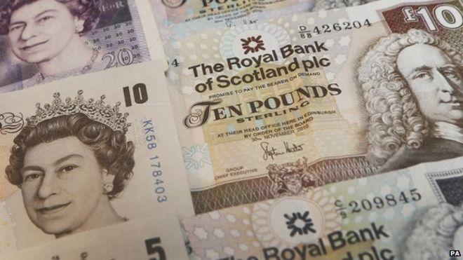 Scotland 5 Pounds 2014 Essay - Scottish British Currency & Bank ...