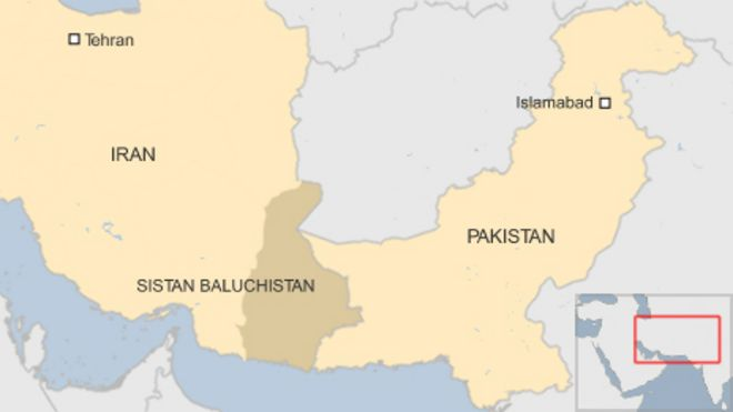 Pakistan and iran exchange mortar fire on border bbc news map gumiabroncs Images