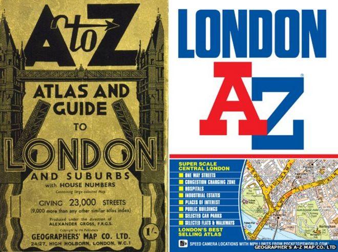 Оригинальная обложка London A-Z и последнее издание