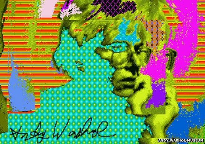 Warhol works recovered from old Amiga disks - BBC News
