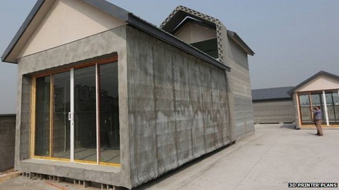 China Firm 3d Prints 10 Full Sized Houses In A Day Bbc News