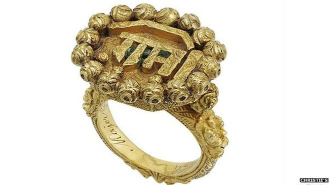 Wedding Ring Auctions 51 Great Ring belonging to Tipu