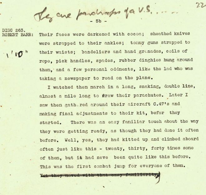D-Day: In the words of the BBC journalists - BBC News
