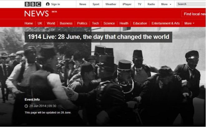 1914 Live: History retold as breaking news - BBC News