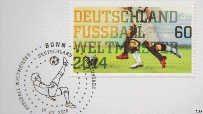 German Stamp Marking Victory In 2014 Football World Cup 14 July
