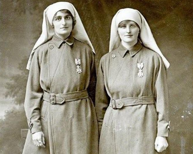 c446e2905e2 Elsie (left) and Mairi in nurses' uniforms (pic: courtesy of Diane