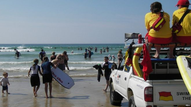 201cf151e7d5 Busy beach Image copyright RNLI. RNLI lifeguards patrol ...