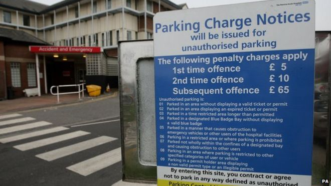 Hospital Car Parking Guidance To Reduce Some Charges Bbc News